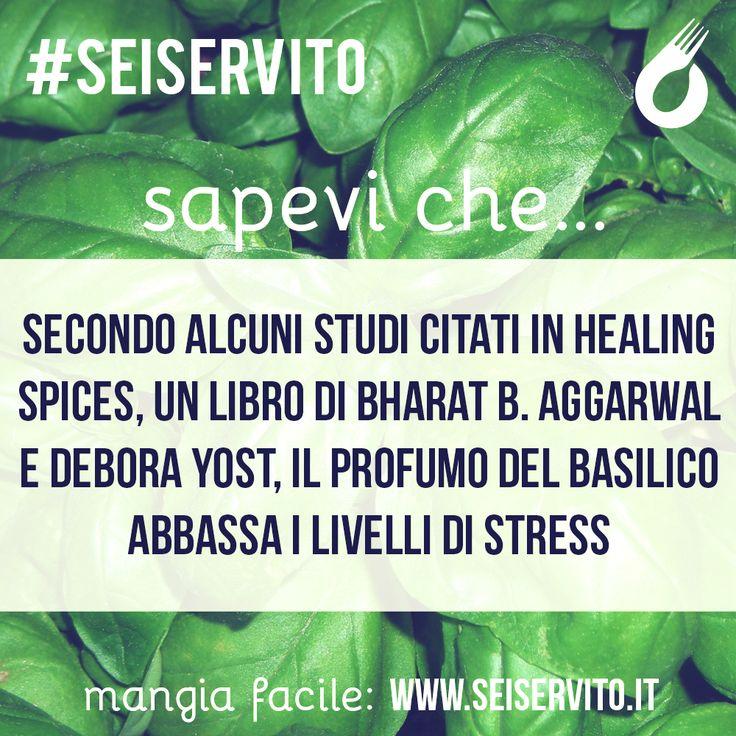 Secondo alcuni studi citati in Healing Spices... #SeiServito #MangiaFacile www.seiservito.it