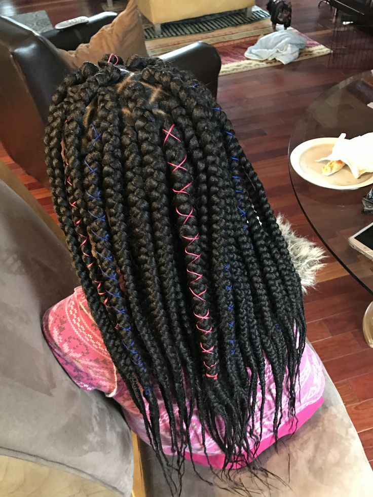 jumbo box braids by me again. ™