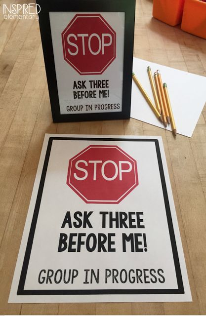 Small group STOP sign to display to help minimize interruptions (free).