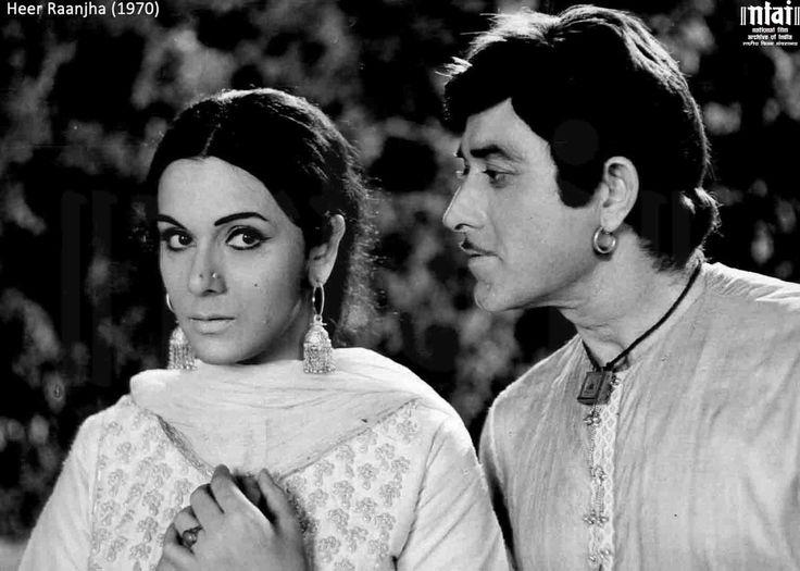 Raaj Kumar and Priya Rajvansh from Chetan Anand's Heer Raanjha (1970)