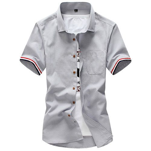 New Brand Men Summer Fashion Clothes,British Style Short Sleeve Dress Shirt,Slim Fit Mens Camisa Masculina,Plus Size Shirt M-5XL