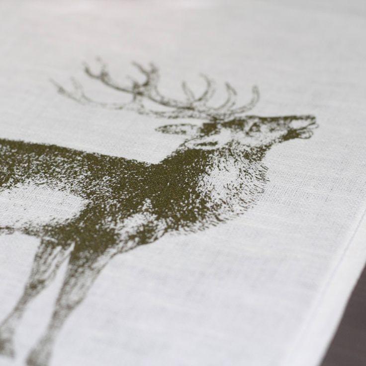 Frohstoff Tischset röhrender Hirsch Weihnachten Siebdruck
