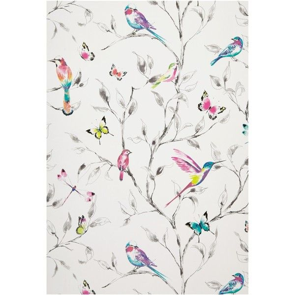 John Lewis Hummingbird Trees Wallpaper, Multi ❤ liked on Polyvore featuring home, home decor, wallpaper, hummingbird wallpaper, john lewis, john lewis wallpaper, tree wallpaper and tree home decor