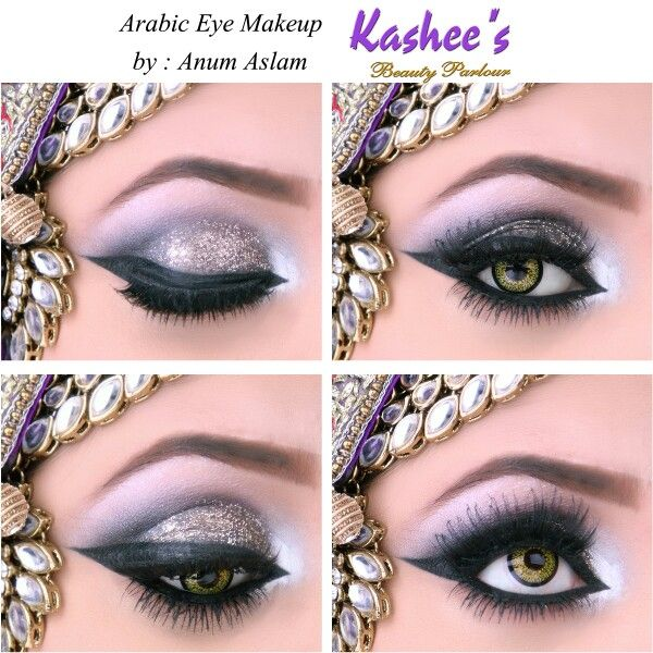 Arabic eye makeup by Anum Aslam at Kashee's beauty parlour