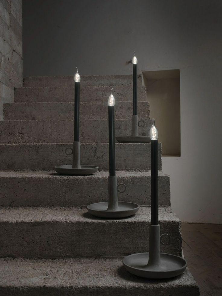 Cement Table Lamp CUCCIOLO By Karman | #design Matteo Ugolini @Karman Srl