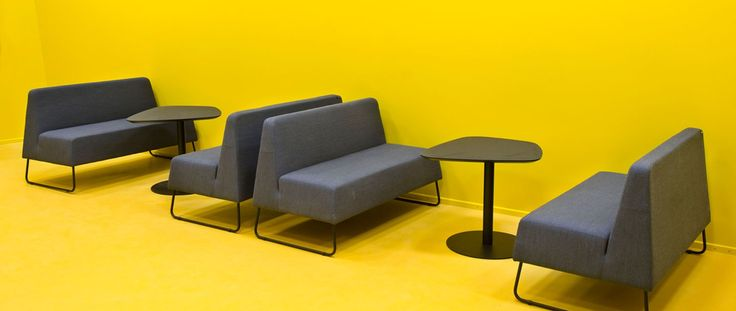 EFG Coleman sofas and EFG Chat tables in a colourful lounge area at SDU in Denmark. #europeanfurnituregroup #efgcoleman #efgchat #sofa #Scandinaviandesign #interiordesign #officeinterior #officedesign #interiors #furniture #office #workplace #inspiration #table #design #meetings #interiorarchitecture #seating #inredning #kontor #möten #soffa #inredningsdesign #interiör