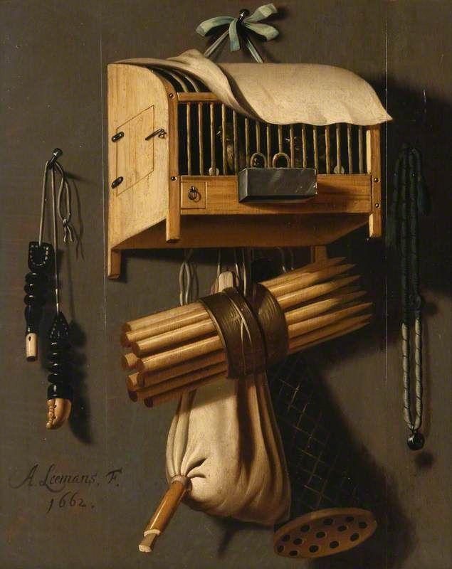 13 марта. Still Life with Bird Catcher's Equipment by Anthonie Leemans