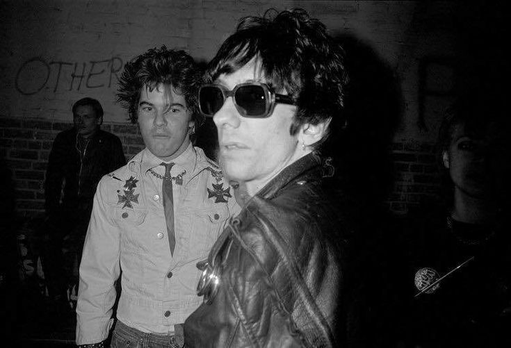 Darby Crash and Stiv Bators  photographed at the Other Masque, Hollywood, by Melanie Nissenca