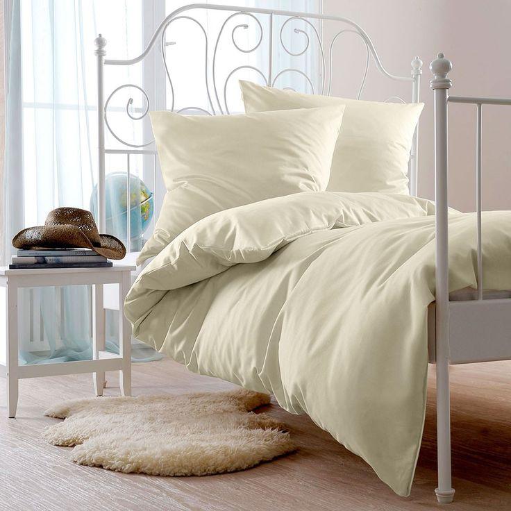 Bettwaren-Shop Uni Biber Bettwäsche natur online kaufen