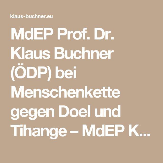 MdEP Prof. Dr. Klaus Buchner (ÖDP) bei Menschenkette gegen Doel und Tihange – MdEP Klaus Buchner