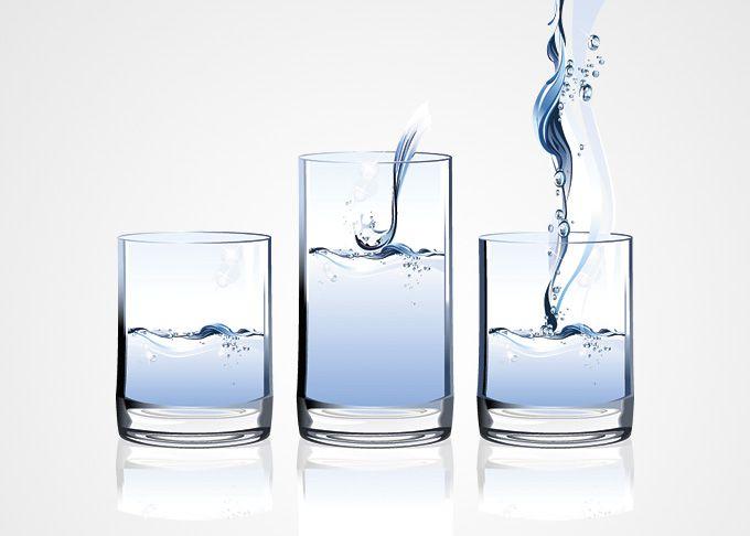 Een glas water en stress