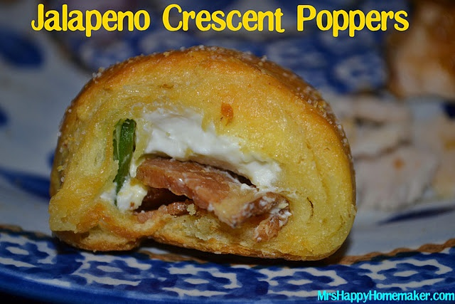 Jalapeno Crescent Poppers: Happy Homemaking, Recipe, Jalapeno Bacon, Jalapeno Crescents, Bacon Jalapeño, Crescents Poppers, Jalapeno Cream Cheese, Crescents Rolls, Bacon Jalapeno