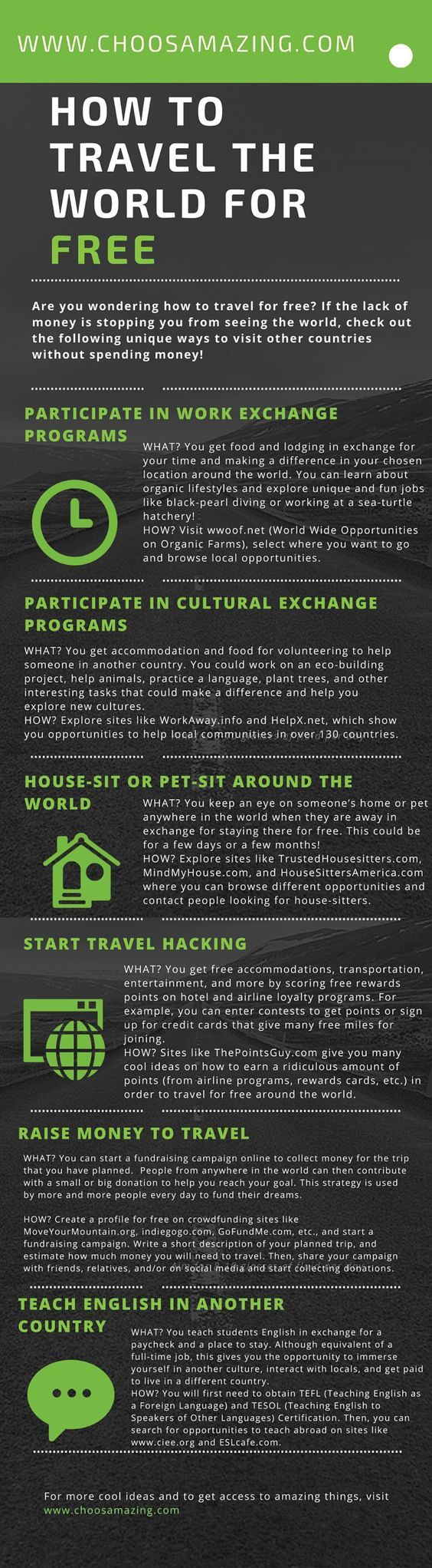 How to Travel the World for Free