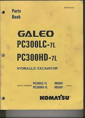 Komatsu Hydraulic Excavator Parts Book - Galeo PC300LC-7L & PC300HD-7L  #Business #Industrial #Heavy #Equipment #Parts #Accs #BEPB020101