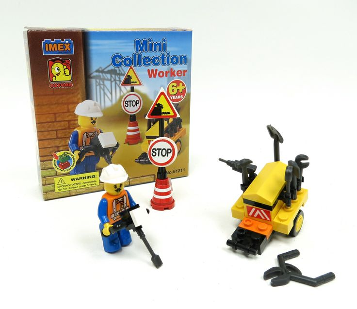 Mini Collection Construction Worker Block Set With Figure