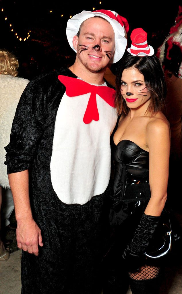 CHANNING TATUM & JENNA DEWAN-TATUM The married couple have a very different take on The Cat in the Hat at George Clooney's Casamigos Tequila Halloween party! #halloween #celebs #hollywood