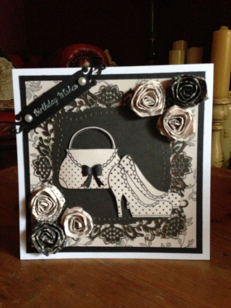 My handmade card using stamps from Dreamees...