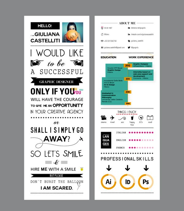 Cool Resume Designs 7 Best Resume Images On Pinterest