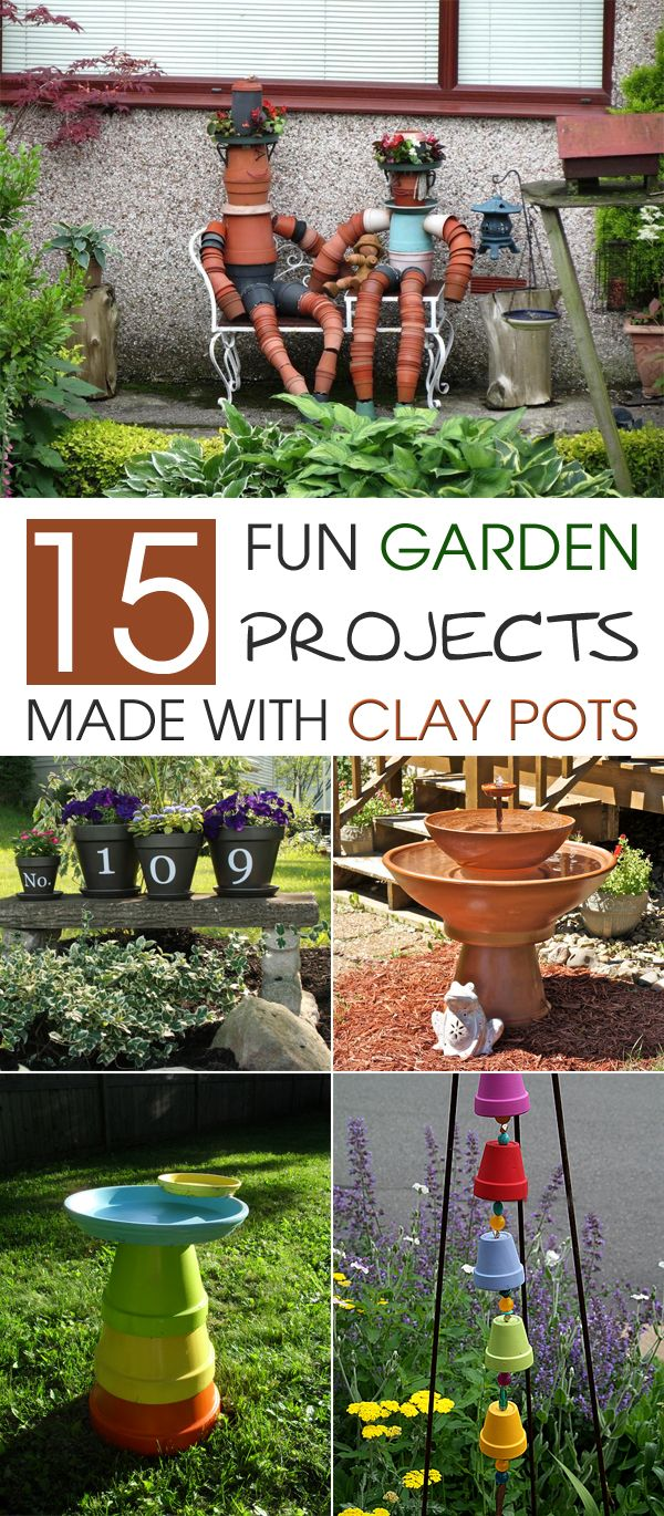 Diy make a clay pot lighthouse diy craft projects - 15 Fun Garden Projects Made With Clay Pots