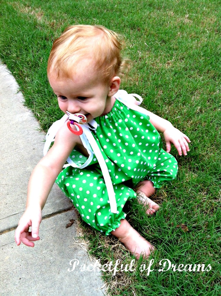 Pocketful Of Dreams: Pillowcase Romper Tutorial