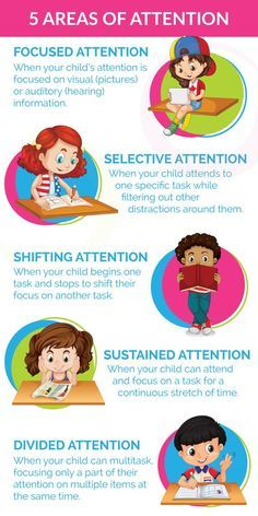 5 Areas of Attention: Is My Child Developmentally Ready for Sustained Attention, Focus and Multitasking | ilslearningcorner...