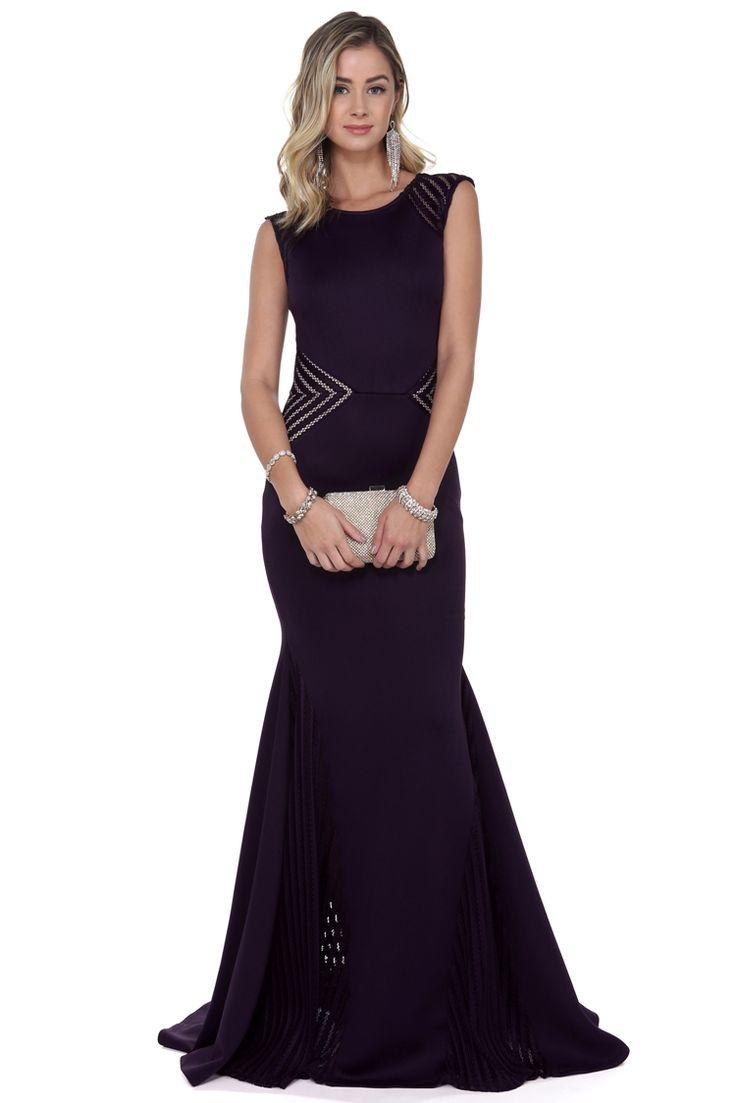 Promo- Yesenia Eggplant Prom Dress