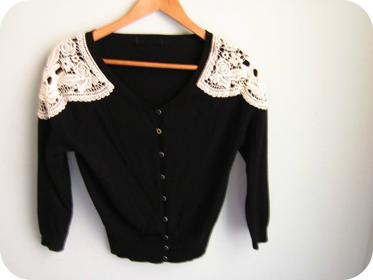 black lace rockabilly shirt 1950s JUKEBOX beaded western sweater size m - l. $30.00, via Etsy.