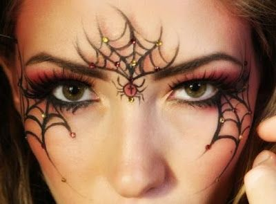 HALLOWEEN MAKE UP IDEAS: Spider's Web