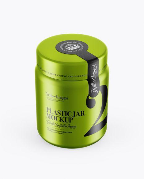 Free Mockup Free PSD Mockup 250ml Metallic Plastic Jar With