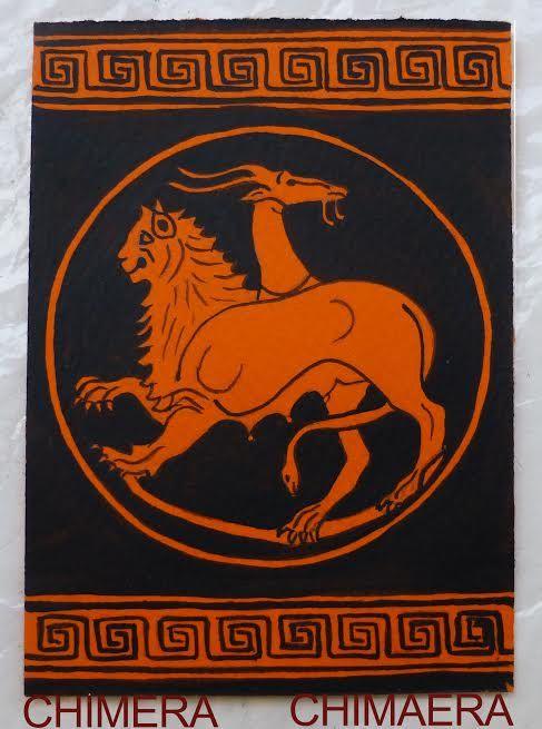 ACEO creature mitiche. Sfinge Chimera Pegaso  Centaurodi #MITOliberty #mythical  #Chimaera CLICK TO SEE THE NEW PRICE