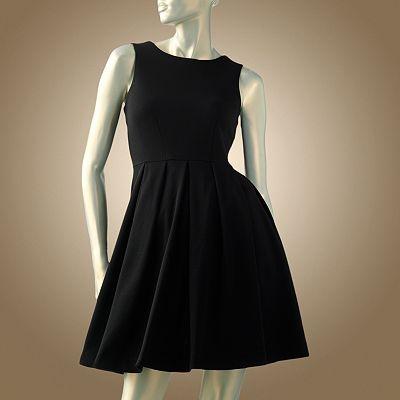 V cut black dress kohls