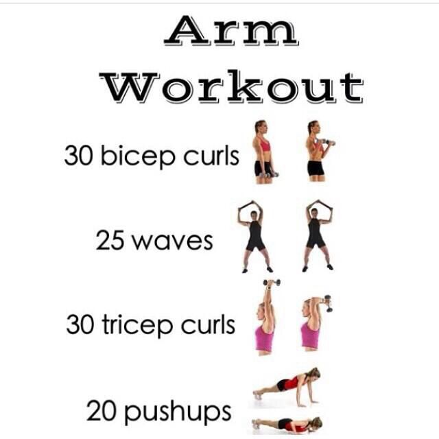 Arms and chest workout without weights