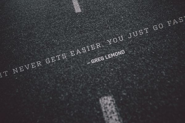 """Isadore Apparel - """"It never gets easier, you just go faster."""" - Greg LeMond  #isadoreapparel #roadisthewayoflife #cyclingmemories"""