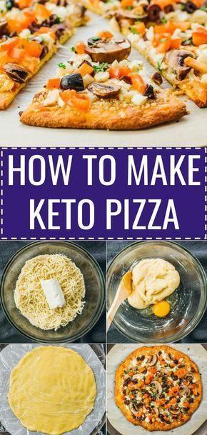 ¡Haz clic en el marcador para encontrar nutrición, macros y fotos paso a paso! Un keto piz fácil …
