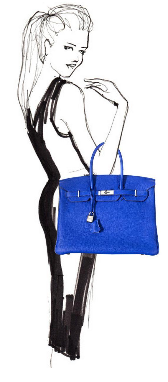17 best images about birkin birkin see all about it on pinterest kim kardashian hermes - Costume bleu electrique ...