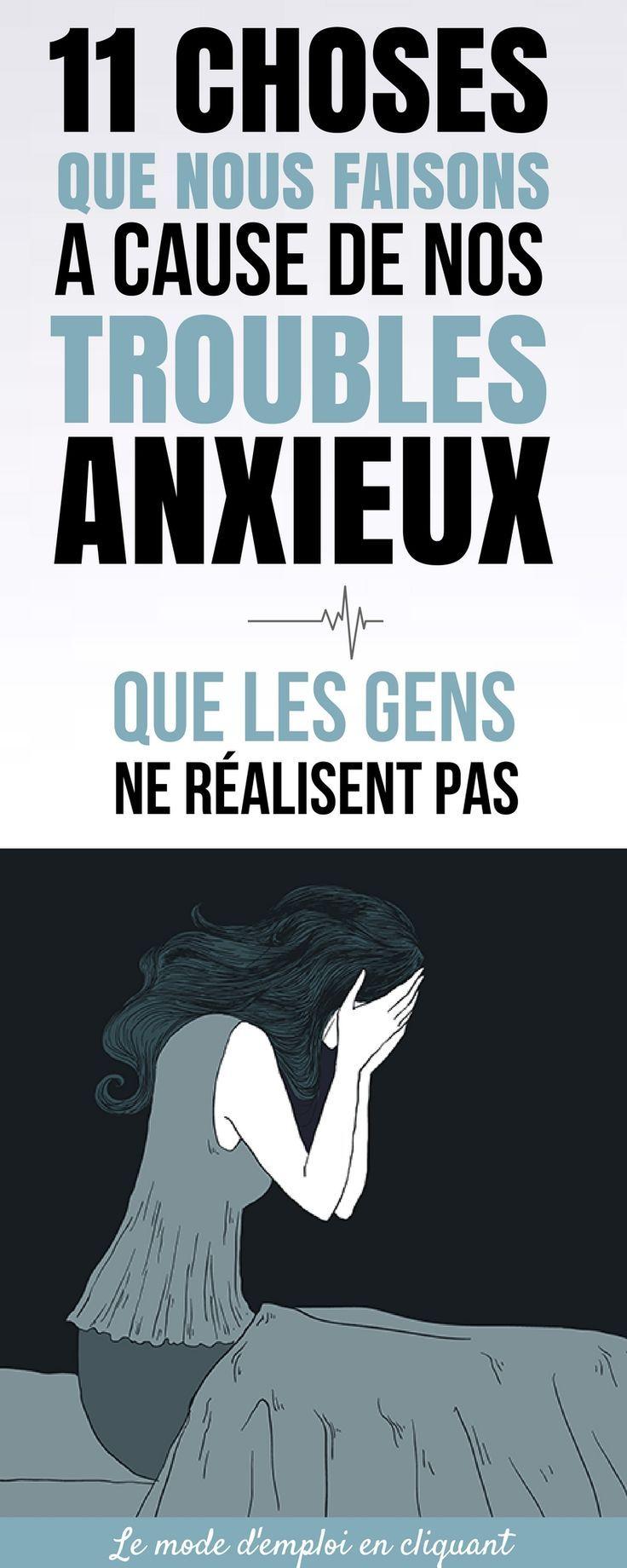 Au quotidien, les effets de l'anxiété sont souvent minimisés. Pour comprendre l'anxiété, il faut l'avoir vécue. Une partie du problème vient du fait qu'il y a encore beaucoup de mystères et d'idées erronées autour de l'anxiété.   Bien que beaucoup de personnes pensent que les personnes souffrant d'anxiété sont paresseuses et irresponsables, souvent, rien ne pourrait être plus éloigné de la vérité.   Si l'anxiété ponctuelle est normale... #santé #chasseursdastuces #anxiété #angoisse #stress