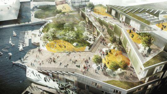 Green-Roofed Sydhavn School Will Terrace Elegantly Down to Copenhagen's Harbor