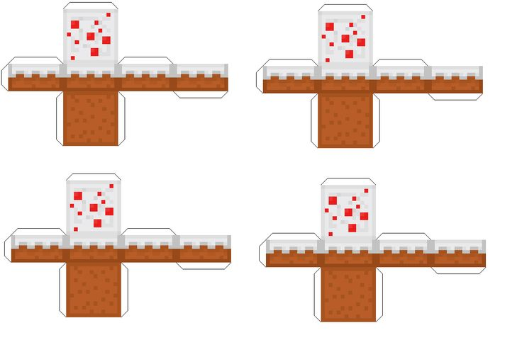 Minecraft Papercraft Large Cake Ideas And Designs