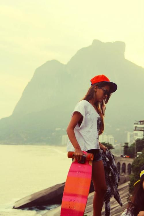 Rio de Janeiro ..longboard culture reminds me of California