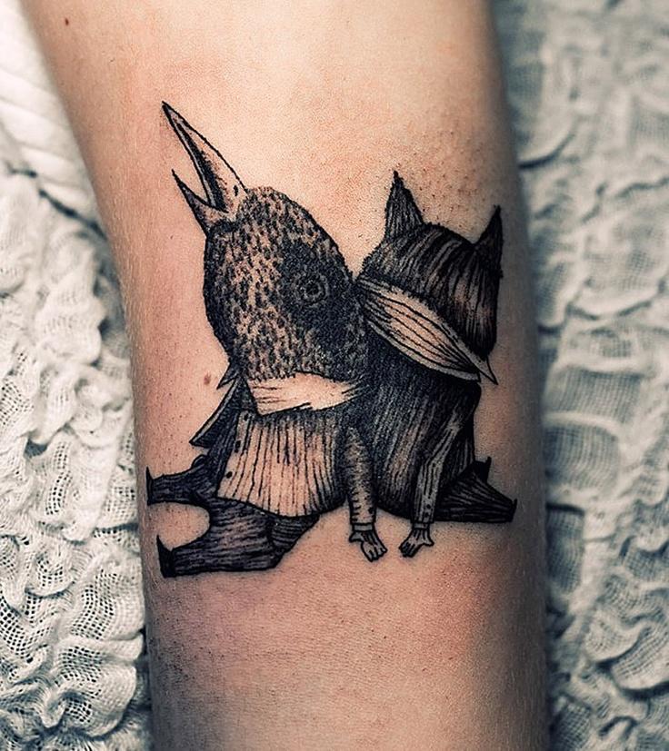 Illustrative Tattoo Design by Ien Levin