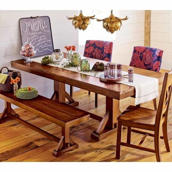 World Market - Verona extension dining table with bench