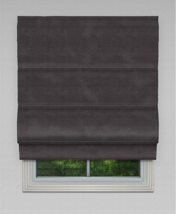 Blockout Hilton Roman Blind - Charcoal #roman #blinds
