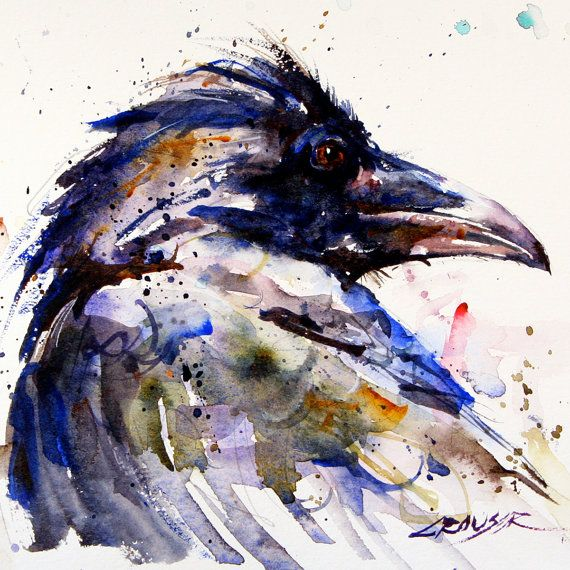 RAVEN Original Watercolor Painting by Dean by DeanCrouserArt, $155.00