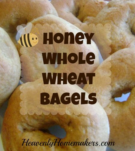 Honey whole wheat bagels | Heavenly Homemakers