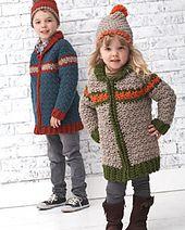 Ravelry: Kiddie Car Coat pattern by Bernat Design Studio.. Free pattern!