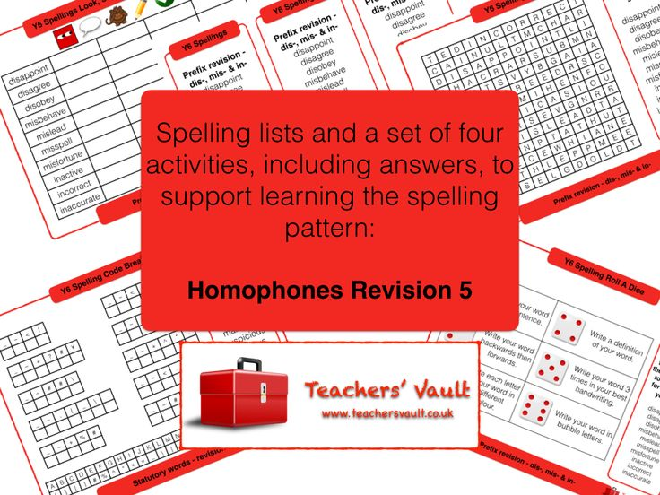 Y6 Spelling Activities Pack - Homophones Revision 5 - KS2 English Spelling Activities and Teaching Resources