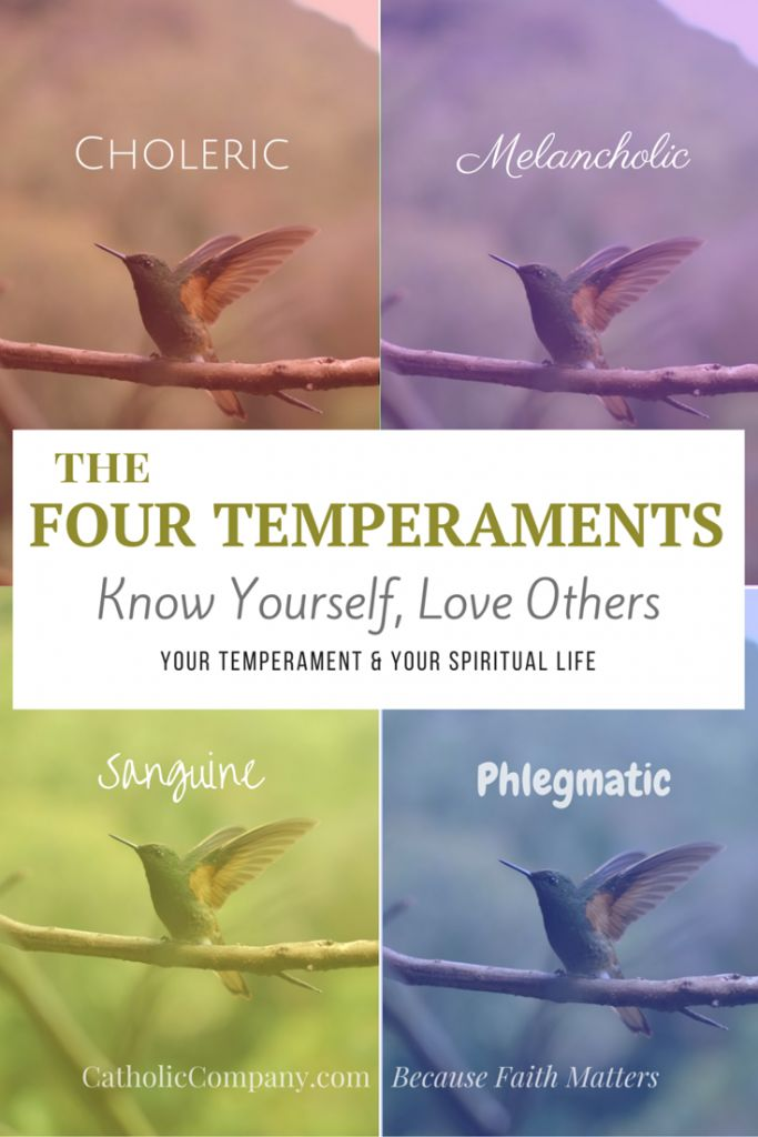 Learn what the four temperaments are, which one is yours, and why they are important to a Catholic