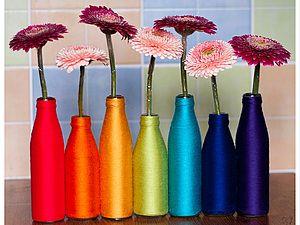 Spring vase from a bottle!  |  Fair Masters - handmade, handmade