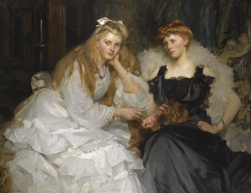 J.  J. Shannon - Portraits Lorna and Dorothy Bell, daughters of W. Heward Bell, Esq.