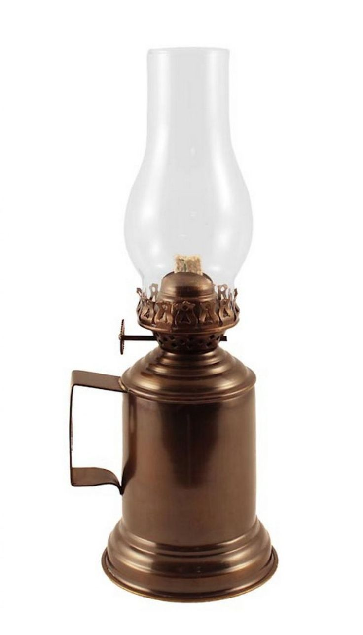 Antique Brass Oil Lamps | Brass Antique Tavern Mug Oil Lamp 14quot;